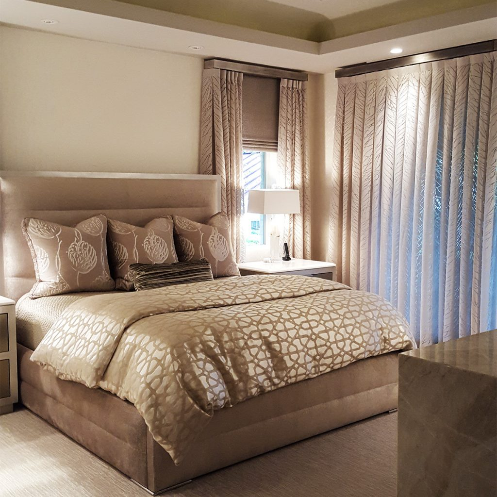 Contemporary master bedroom interior design Virginia